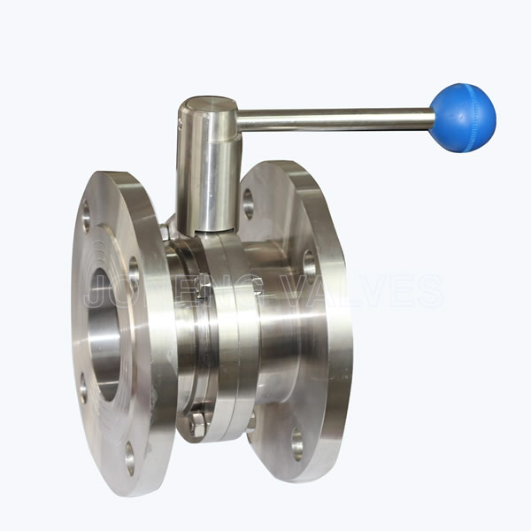Sanitary forging flanged butterfly valves