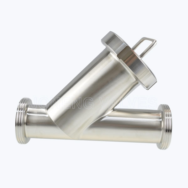 Sanitary male threaded Y inline strainers