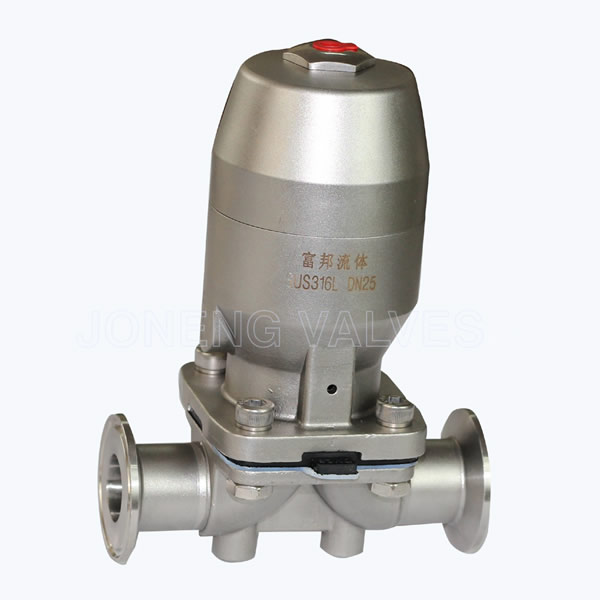 Sanitary Pneumatic diaphragm valves with bonded membrane