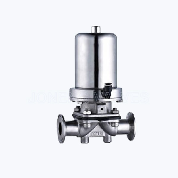 Sanitary Pneumatic double sealed diaphragm block valves