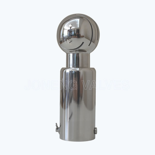 Sanitary rotating spray ball nozzles