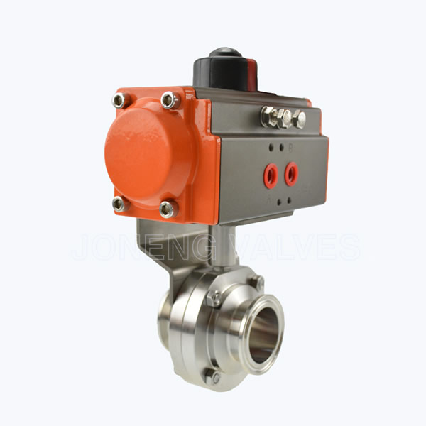 Food grade single acutuated butterfly valves