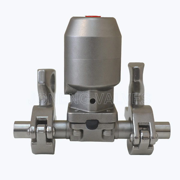 Sanitary SS pneumatic diaphragm valves with triclover end