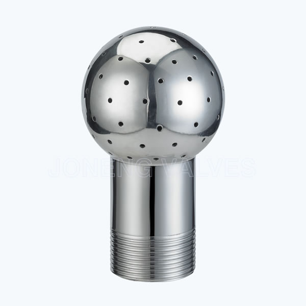 Sanitary threaded stationary spray heads