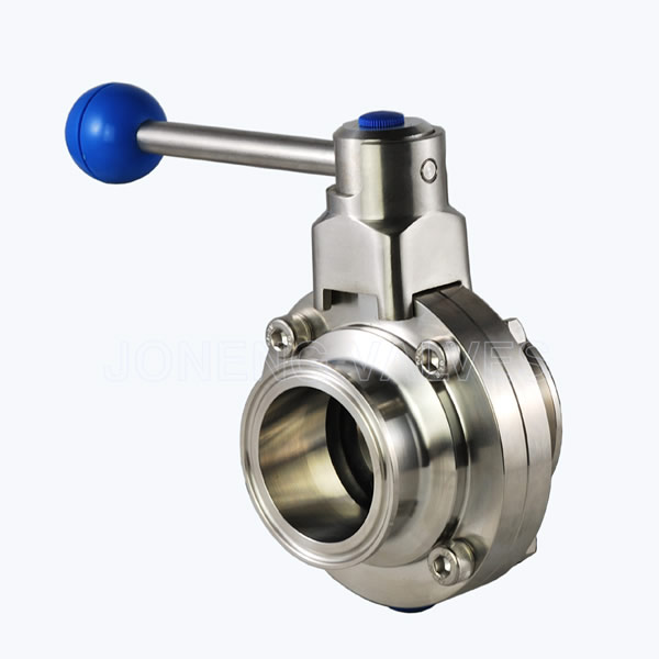 Food grade triclover butterfly valves