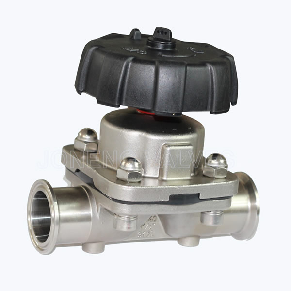 Sanitary two way casting diaphragm valves